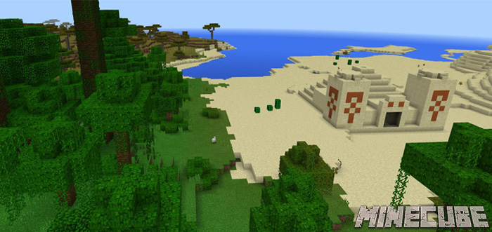 Desert Temple At Spawn