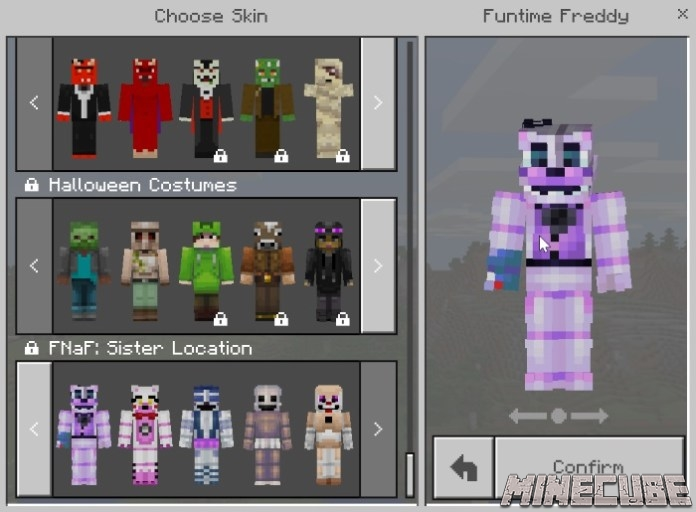 Five Nights At Freddy's: Sister Location Skin Pack