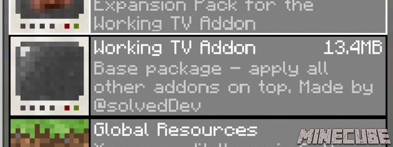 Working TV AddOn