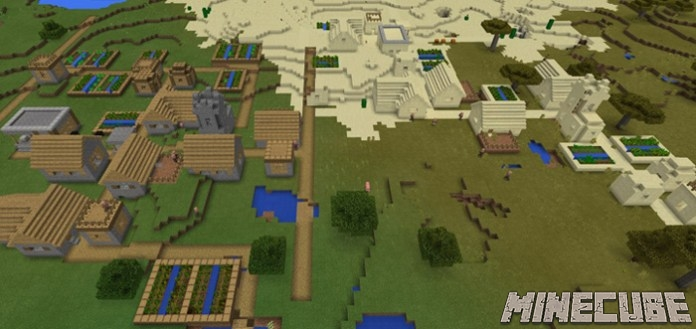 Double Village Spawn & Stronghold Seed